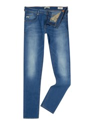 Blend Of America Light Wash Low Rise Jeans Mid Blue