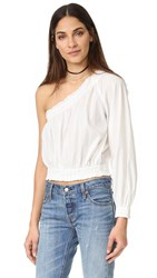 Free People Annabelle Asymmetrical Top Ivory