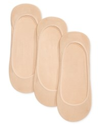 Charter Club Women's Seamless Liner 3 Pack No Show Socks Light Beige