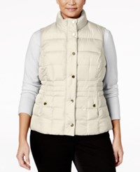 Charter Club Plus Size Quilted Puffer Vest Only At Macy's Vintage Cream