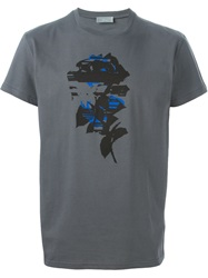 Christian Dior Dior Homme Printed T Shirt Grey