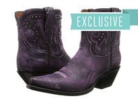 Dan Post Flat Iron Studs Purple Vintage Cowboy Boots