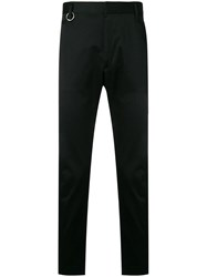 Diesel Slim Fit Gabardine Chino Pants Black