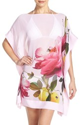Ted Baker Women's London 'Citrus Bloom' Cover Up Tunic Nude Pink