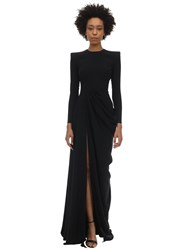 Alex Perry Knox Satin Envers Dress Black