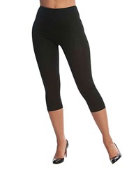 Lysse Capri Stretch Cotton Shaping Leggings Black
