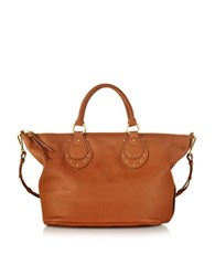 See By Chlo Janis Sbc Large Suntan Leather Top Zip Tote Brown