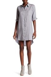 Allen Allen Linen Shirt Dress Gray