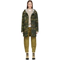 Stutterheim Green Camo Stockholm Raincoat