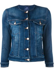 Jacob Cohen Buttoned Denim Jacket Women Cotton Elastodiene Spandex Elastane L Blue