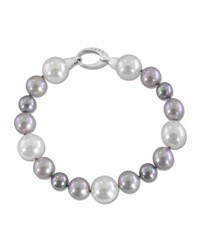 Majorica Gray White And Nuage Pearl Bracelet