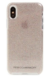 Rebecca Minkoff Be More Transparent Iphone X Case White Multi Glitter