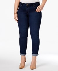 Charter Club Plus Size Greenwich Wash Boyfriend Jeans Only At Macy's