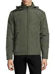 Black Brown Bomber Windbreaker Jacket Olive