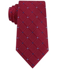 Nautica Deckhand Dotted Grid Tie Red