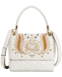 Guess Alessia Top Handle Small Crossbody Stone