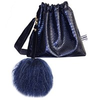 Florence Bridge Lyla Party Pouch In Navy Blue
