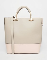 New Look Contrast Large Shopper Bag Gray