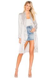 Cupcakes And Cashmere Yoko Drape Front Trench Gray