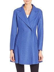 Army By Yves Salomon Wool Flared Coat Bright Red