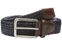 Torino Leather Co. Italian Woven Cotton And Elastic Navy Men's Belts