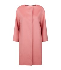 Harrods Of London Collarless Cocoon Coat Female Pink