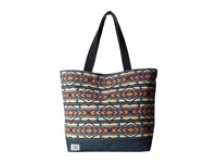 Toms Transport Canvas Tote Blue Geometric Tote Handbags Multi