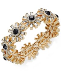 Charter Club Gold Tone Stone And Crystal Asterisk Stretch Bracelet Only At Macy's