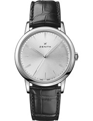 Zenith 03.2290.679 01.C493 Elite Classic Alligator Leather Watch Black