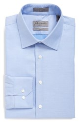 Men's Big And Tall John W. Nordstrom Trim Fit Non Iron Solid Dress Shirt Blue Grapemist