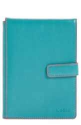 Lodis Audrey Rfid Leather Passport Wallet Blue Green Turquoise Coral