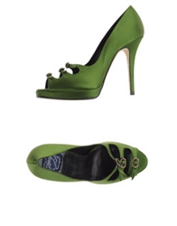 Zoraide Pumps With Open Toe Green