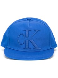 Calvin Klein Jeans Logo Embroidered Baseball Cap Blue