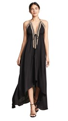 Loyd Ford Beaded Maxi Dress Black