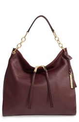 Vince Camuto Avin Leather Hobo Red Wine