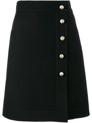 Gucci Folded Straight Skirt Black