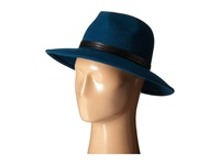 Bcbgmaxazria Pu Banded Panama Hat Deep Carribean Traditional Hats Blue