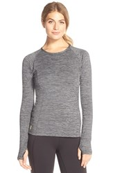 Women's Lole 'Lynn' Long Sleeve Crewneck Top Black Heather
