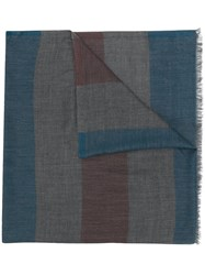 Loro Piana Striped Scarf Grey