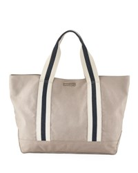Heidi Klein Bahamas Large Canvas Beach Tote Bag Neutral Neutral Pattern