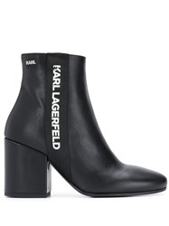 Karl Lagerfeld Logo Printed Ankle Boots 60