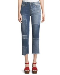 True Religion Stovepipe Deconstructed Patchwork Jeans Blue