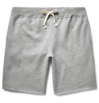 Todd Snyder Champion Cut Off Fleece Back Cotton Blend Jersey Shorts Light Gray