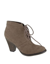 Mia Fianna Suede Lace Up Ankle Boots Taupe
