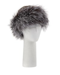 Surell Knitted Fur Hat Black