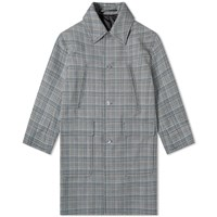 Givenchy Prince Of Wales Wool Coat Blue