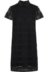 Raoul Guipure Lace Shirt Dress Black