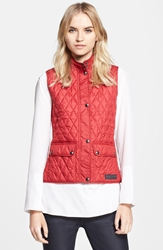 Belstaff 'Weskit' Lightweight Technical Quilt Vest Racing Red