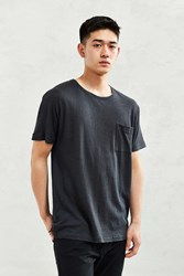 Feathers Cotton Linen Batwing Tee Washed Black