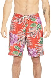Tommy Bahama Baja Hibiscus Cove Board Shorts Scooter Red
